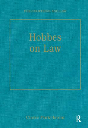 Hobbes on Law book cover