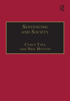 Sentencing and Society: International Perspectives, 1st Edition (Hardback) book cover
