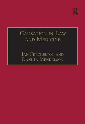 Causation in Law and Medicine book cover
