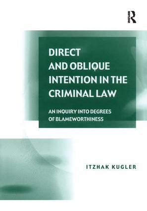 Direct and Oblique Intention in the Criminal Law