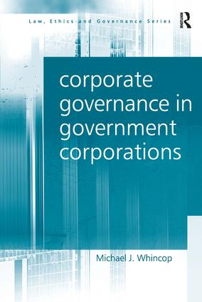 Corporate Governance in Government Corporations book cover