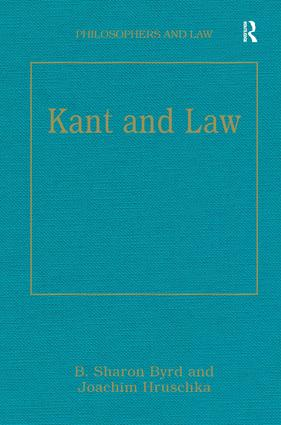 Kant and Law book cover