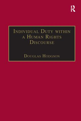 Individual Duty within a Human Rights Discourse book cover