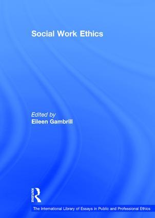 Social Work Ethics: 1st Edition (Hardback) book cover