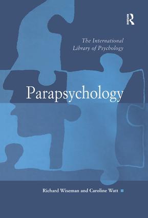 Parapsychology: 1st Edition (Hardback) book cover
