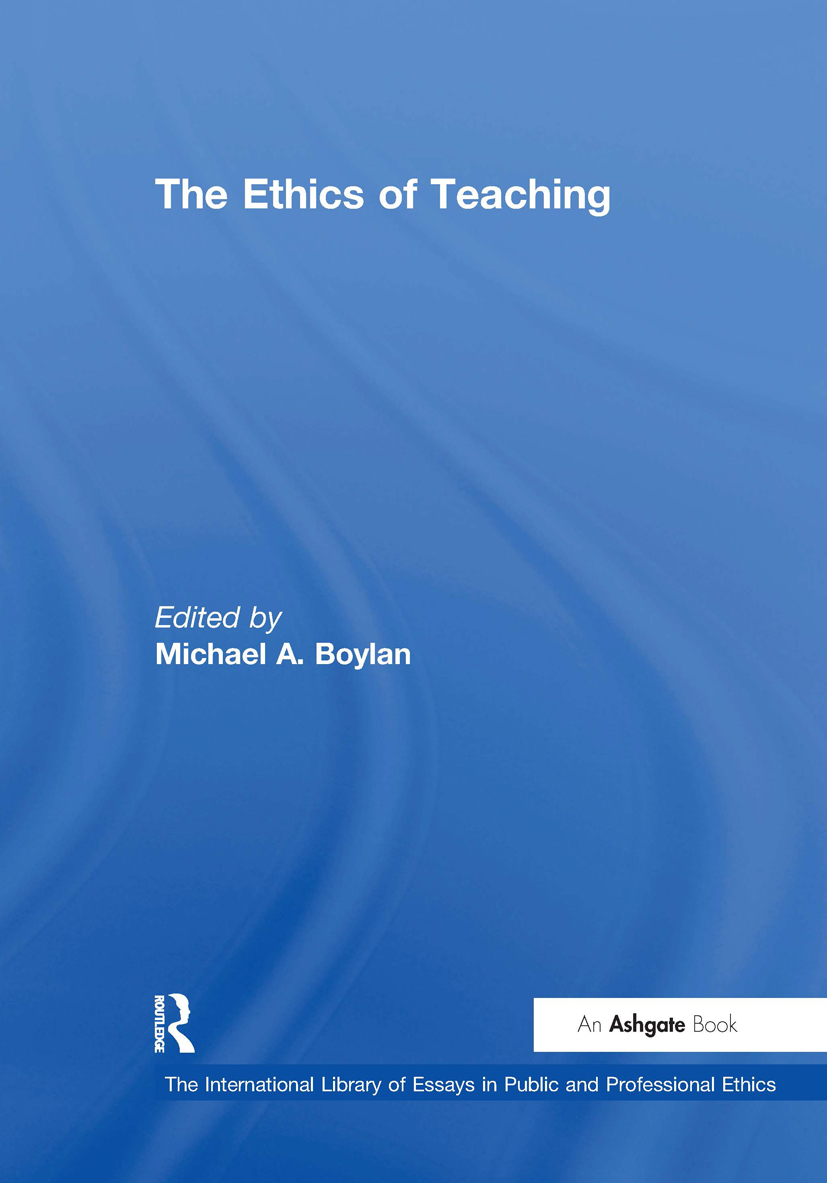 The Ethics of Teaching: 1st Edition (Hardback) book cover