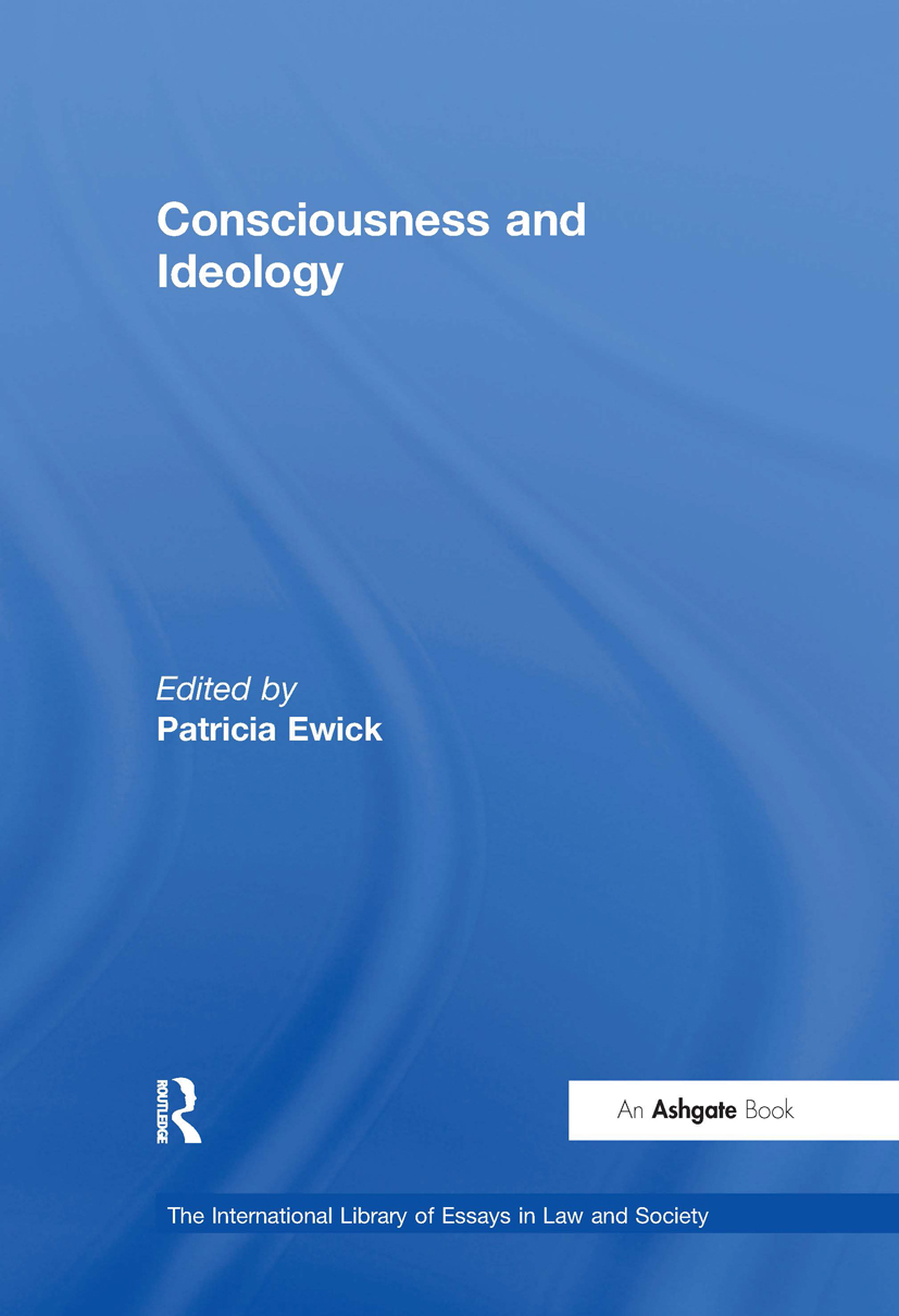 Consciousness and Ideology: 1st Edition (Hardback) book cover