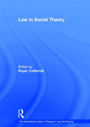 Law in Social Theory book cover
