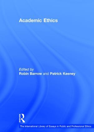 Academic Ethics: 1st Edition (Hardback) book cover