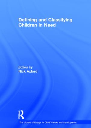 Defining and Classifying Children in Need book cover