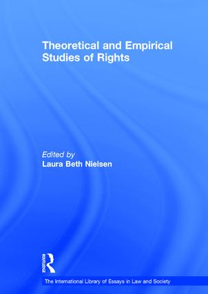 Theoretical and Empirical Studies of Rights: 1st Edition (Hardback) book cover