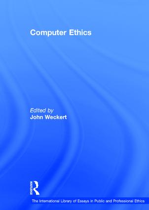 Computer Ethics book cover