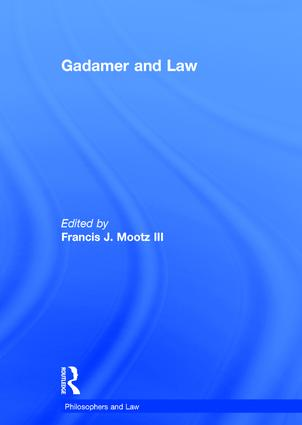 Gadamer and Law: 1st Edition (Hardback) book cover