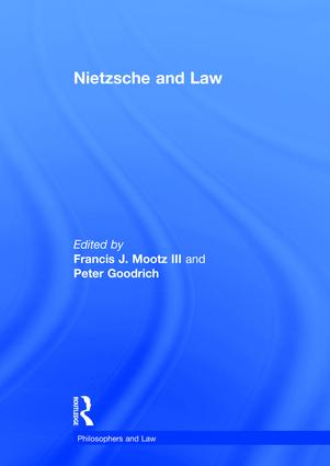 Nietzsche and Law book cover