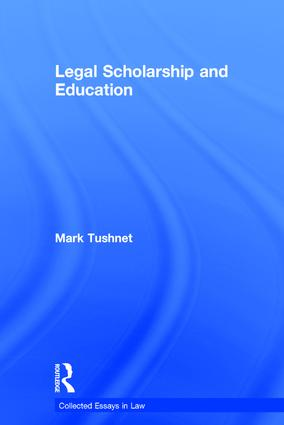 Legal Scholarship and Education book cover