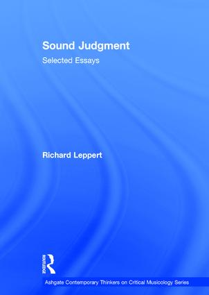 Sound Judgment: Selected Essays book cover