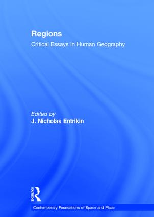 Regions: Critical Essays in Human Geography, 1st Edition (Hardback) book cover