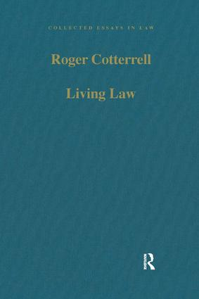 collected essays in law routledge living law studies in legal and social theory book cover
