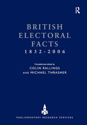 British Electoral Facts 1832-2006 book cover
