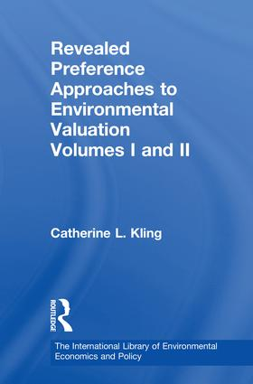 Revealed Preference Approaches to Environmental Valuation Volumes I and II book cover