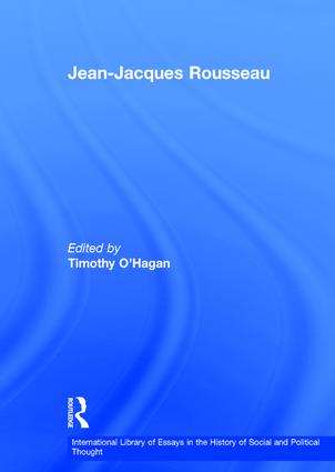 international library of essays in the history of social and  jean jacques rousseau