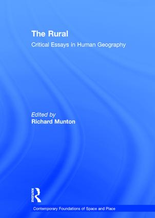 The Rural: Critical Essays in Human Geography, 1st Edition (Hardback) book cover