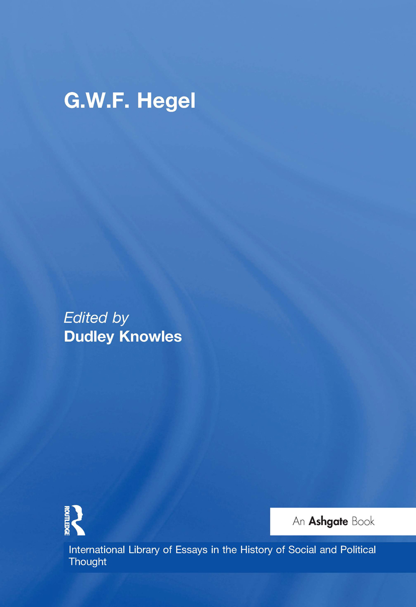 G.W.F. Hegel: 1st Edition (Hardback) book cover