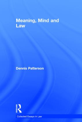 Meaning, Mind and Law book cover