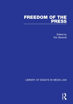 Freedom of the Press: 1st Edition (Hardback) book cover