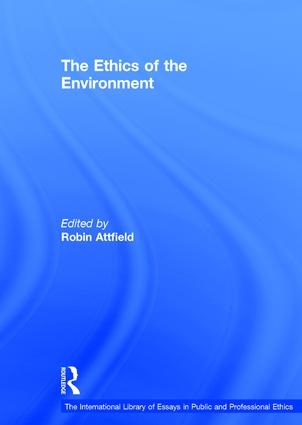The Ethics of the Environment book cover