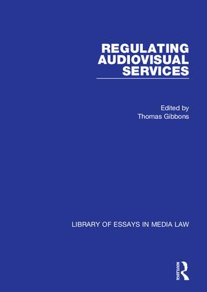 Regulating Audiovisual Services book cover