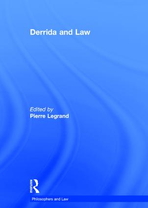 Derrida and Law book cover
