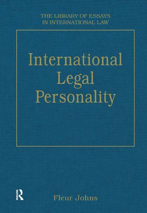 International Legal Personality (Hardback) book cover