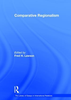 Comparative Regionalism: 1st Edition (Hardback) book cover