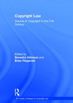 Copyright Law: Volume III: Copyright in the 21st Century book cover