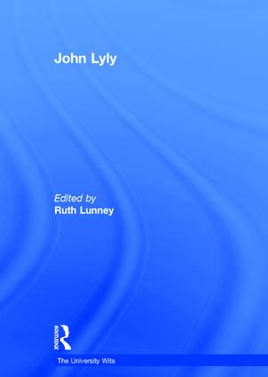 John Lyly book cover
