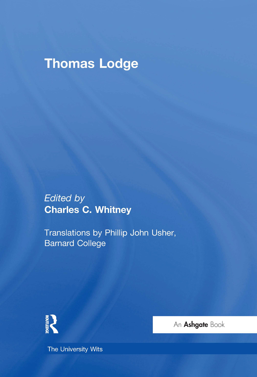 Thomas Lodge book cover