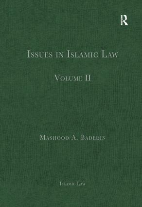 Issues in Islamic Law: Volume II book cover