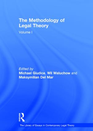 The Methodology of Legal Theory: Volume I book cover