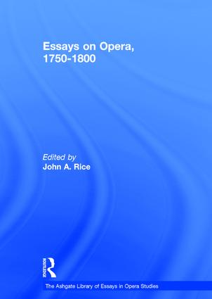 Essays on Opera, 1750-1800 book cover