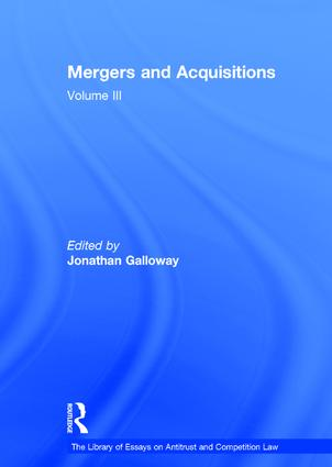 Mergers and Acquisitions: Volume III, 1st Edition (Hardback) book cover