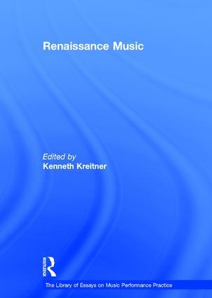 Renaissance Music: 1st Edition (Hardback) book cover