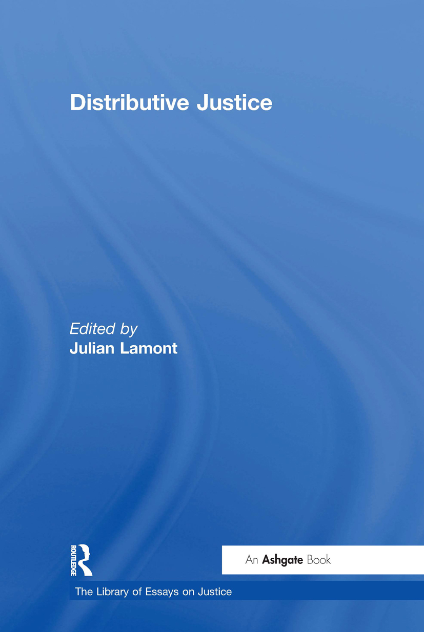 Distributive Justice: 1st Edition (Hardback) book cover