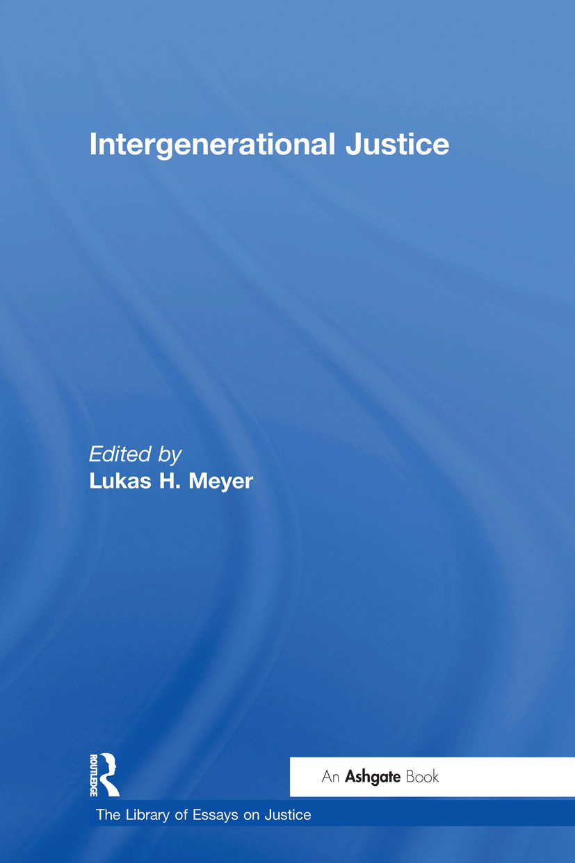 Intergenerational Justice: 1st Edition (Hardback) book cover