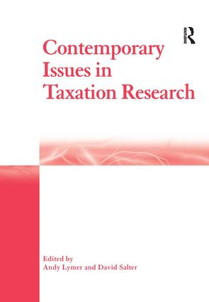 Contemporary Issues in Taxation Research: 1st Edition (e-Book) book cover