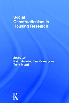 Social Constructionism in Housing Research: 1st Edition (Hardback) book cover