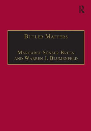 Butler Matters: Judith Butler's Impact on Feminist and Queer Studies, 1st Edition (Hardback) book cover