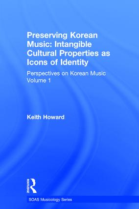 Perspectives on Korean Music: Volume 1: Preserving Korean Music: Intangible Cultural Properties as Icons of Identity, 1st Edition (Hardback) book cover