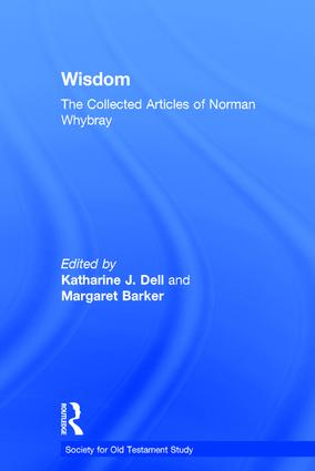 Wisdom: The Collected Articles of Norman Whybray book cover