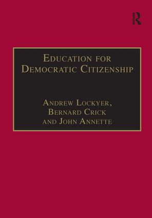 Education for Democratic Citizenship: Issues of Theory and Practice, 1st Edition (Hardback) book cover